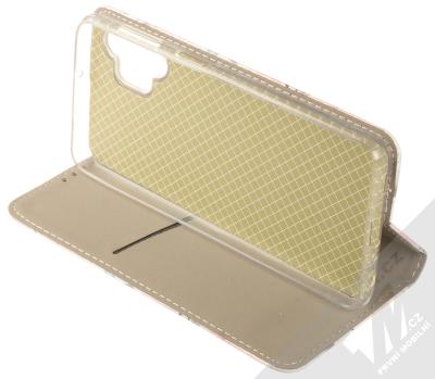 1Mcz Trendy Book Keřík růží 1 flipové pouzdro pro Samsung Galaxy A32 5G bílá (white) stojánek
