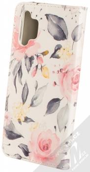 1Mcz Trendy Book Keřík růží 1 flipové pouzdro pro Samsung Galaxy A32 5G bílá (white) zezadu
