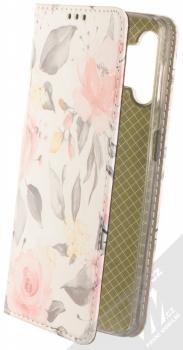 1Mcz Trendy Book Keřík růží 1 flipové pouzdro pro Samsung Galaxy A32 5G bílá (white)