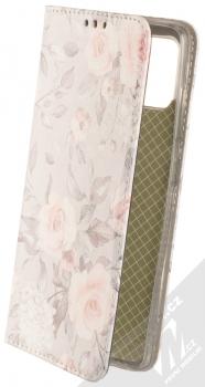 1Mcz Trendy Book Keřík růží 2 flipové pouzdro pro Samsung Galaxy A51 světle šedá (light grey)