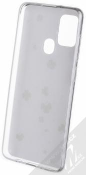 1Mcz Trendy Trojlístky a Čtyřlístky TPU ochranný kryt pro Samsung Galaxy A21s bílá (white) zepředu