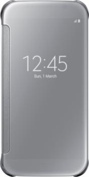 Samsung EF-ZG920BS Clear View Cover originální flipové pouzdro pro Samsung Galaxy S6 stříbrná (silver)