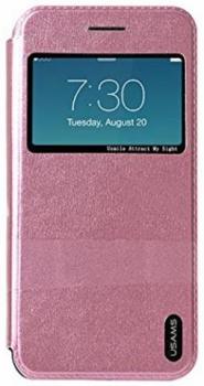 USAMS Lange flipové pouzdro pro Apple iPhone 6, iPhone 6S růžová (pink)