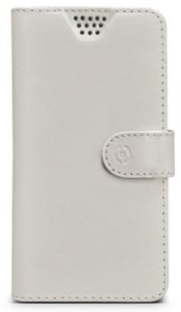 Celly Wally Unica XL univerzální flipové pouzdro pro mobilní telefon, mobil, smartphone bílá (white)