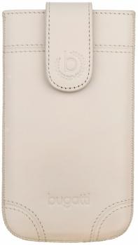 Bugatti SlimCase Dublin SL kožené pouzdro pro mobilní telefon, mobil, smartphone slonovinová (ivory)