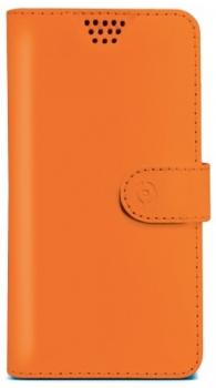 Celly Wally Unica L univerzální flipové pouzdro pro mobilní telefon, mobil, smartphone oranžová (orange)