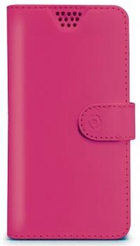 Celly Wally Unica XXL univerzální flipové pouzdro pro mobilní telefon, mobil, smartphone růžová (fuchsia)