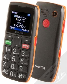 Aligator A440 Senior + POUZDRO GOLLA v ceně 199Kč ZDARMA černá oranžová (black orange)