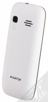 ALIGATOR D200 DUAL SIM bílá černá (white black) šikmo zezadu