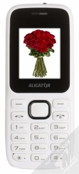 ALIGATOR D200 DUAL SIM bílá černá (white black) zepředu