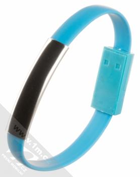Blue Star Bracelet malý USB kabel s USB Type-C konektorem ve formě náramku na ruku modrá (blue) narámek