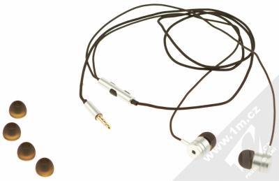 Blue Star Metal MI sluchátka s mikrofonem a ovladačem stříbrná (silver) balení