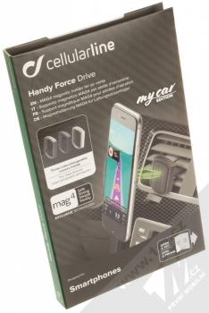Cellularline Handy Force Drive magnetický univerzální držák do mřížky ventilace automobilu černá (black) krabička