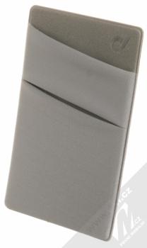 CellularLine Pocket samonalepovací kapsička na kartu a peníze šedá (grey)