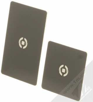 Celly Ghost Plates univerzální kovové plíšky se samonalepovací podložkou černá (black)