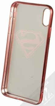 DC Comics Superman 004 TPU pokovený ochranný silikonový kryt s motivem pro Apple iPhone XS Max černá červená (black red chrome) zepředu