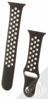 Devia Deluxe Sport Band 2 silikonový pásek na zápěstí pro Apple Watch 38mm, Watch 40mm černá šedá (black grey)