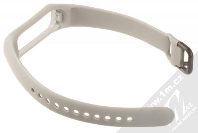 Devia Deluxe Sport Band silikonový pásek na zápěstí pro Samsung Galaxy Fit e šedá (grey) rozepnuté zezadu