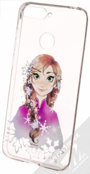 Disney Anna 001 TPU ochranný silikonový kryt s motivem pro Huawei Y6 Prime (2018), Honor 7A průhledná (transparent)