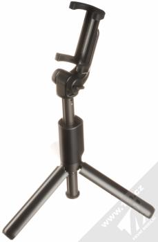 Dispho Selfie Stick Tripod selfie teleskopická tyč a univerzální stativ s bezdrátovým tlačítkem spouště přes Bluetooth černá (black) stativ