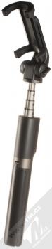 Dispho Selfie Stick Tripod selfie teleskopická tyč a univerzální stativ s bezdrátovým tlačítkem spouště přes Bluetooth černá (black)