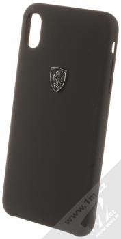 Ferrari Heritage Silicone ochranný kryt pro Apple iPhone XS Max (FEOSIHCI65BK) černá (black)
