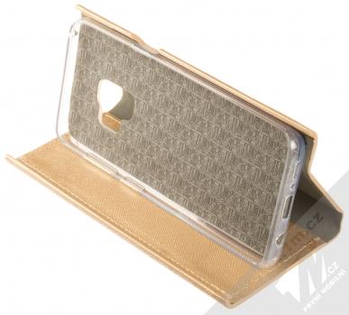 Forcell Bravo Book flipové pouzdro pro Samsung Galaxy S9 zlatá (gold) stojánek
