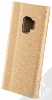 Forcell Bravo Book flipové pouzdro pro Samsung Galaxy S9 zlatá (gold) zezadu