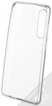 Forcell Crystal Glitter třpytivý ochranný kryt pro Huawei P30 průhledná střírná (transparent silver) zepředu