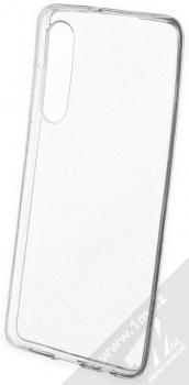 Forcell Crystal Glitter třpytivý ochranný kryt pro Huawei P30 průhledná střírná (transparent silver)