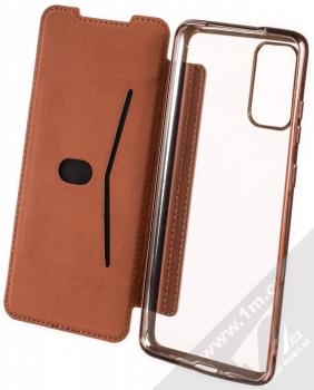 Forcell Electro Book flipové pouzdro pro Samsung Galaxy S20 Plus růžově zlatá (rose gold) otevřené