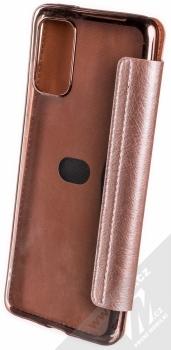 Forcell Electro Book flipové pouzdro pro Samsung Galaxy S20 Plus růžově zlatá (rose gold) zezadu