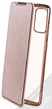 Forcell Electro Book flipové pouzdro pro Samsung Galaxy S20 Plus růžově zlatá (rose gold)