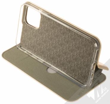 Forcell Elegance Book flipové pouzdro pro Apple iPhone 11 Pro zlatá (gold) stojánek