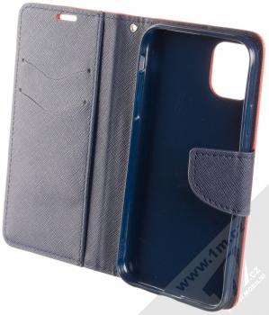 Forcell Fancy Book flipové pouzdro pro Apple iPhone 11 červená modrá (red blue) otevřené
