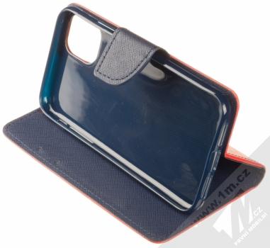 Forcell Fancy Book flipové pouzdro pro Apple iPhone 11 červená modrá (red blue) stojánek
