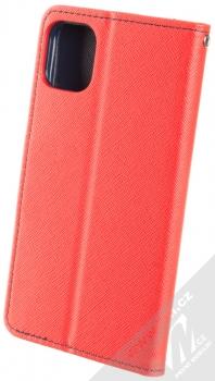 Forcell Fancy Book flipové pouzdro pro Apple iPhone 11 červená modrá (red blue) zezadu