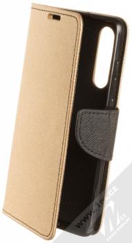 Forcell Fancy Book flipové pouzdro pro Huawei P30 zlatá černá (gold black)