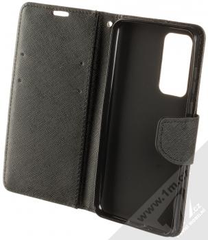 Forcell Fancy Book flipové pouzdro pro Huawei P40 černá (black) otevřené