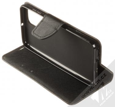 Forcell Fancy Book flipové pouzdro pro Huawei P40 černá (black) stojánek