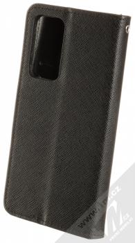 Forcell Fancy Book flipové pouzdro pro Huawei P40 černá (black) zezadu