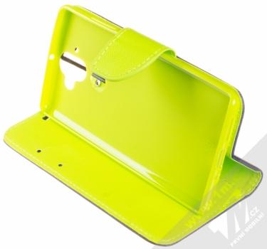 Forcell Fancy Book flipové pouzdro pro Nokia 9 modrá limetkově zelená (blue lime) stojánek