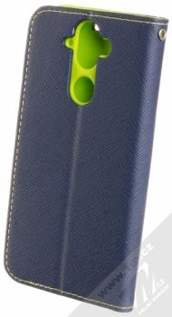 Forcell Fancy Book flipové pouzdro pro Nokia 9 modrá limetkově zelená (blue lime) zezadu