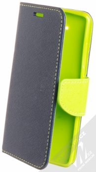 Forcell Fancy Book flipové pouzdro pro Nokia 9 modrá limetkově zelená (blue lime)