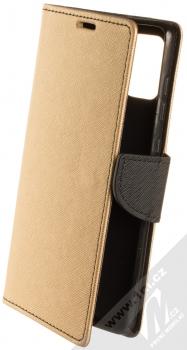 Forcell Fancy Book flipové pouzdro pro Samsung Galaxy A71 zlatá černá (gold black)