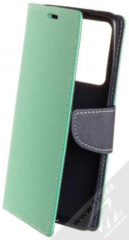 Forcell Fancy Book flipové pouzdro pro Samsung Galaxy S20 Ultra mátově zelená modrá (mint blue)