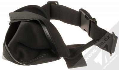 Forcell Fit Slim Multi sportovní pouzdro na pas pro mobilní telefon, mobil, smartphone černá (black) otevřené