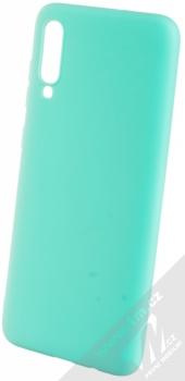 Forcell Jelly Matt Case TPU ochranný silikonový kryt pro Samsung Galaxy A70 mátově zelená (mint green)