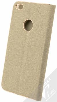 Forcell Luna flipové pouzdro pro Huawei P9 Lite (2017) stříbrná (silver) zezadu