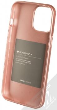 Goospery i-Jelly Case TPU ochranný kryt pro Apple iPhone 12 Pro Max růžově zlatá (metal rose gold) zepředu